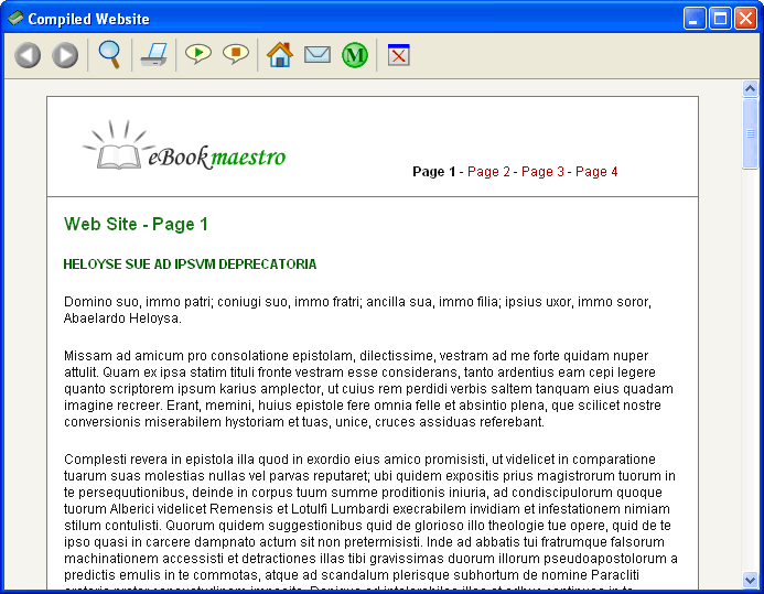 eBook Maestro STANDARD Screenshot